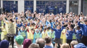 Youngsters performed with Wolverhampton Music Service in Queen Square during the summer.